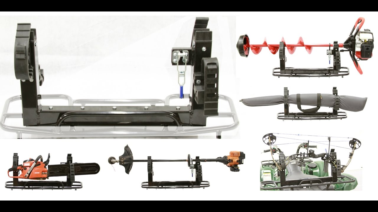 Three Place Mount For Ice Auger, Bow, Tools & More - ATV - UTV