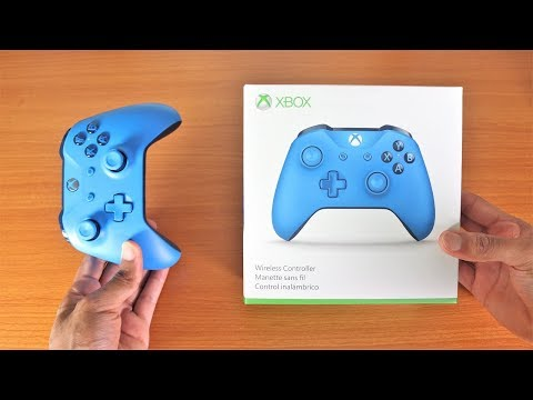 Xbox One X Blue Wireless Controller Unboxing