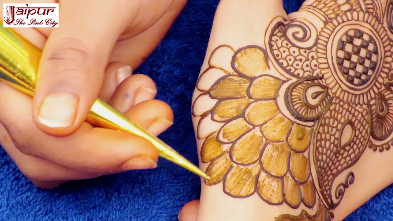 Mehndi Peacock Tattoos : Beautiful mehndi designs for hands latest peacock design