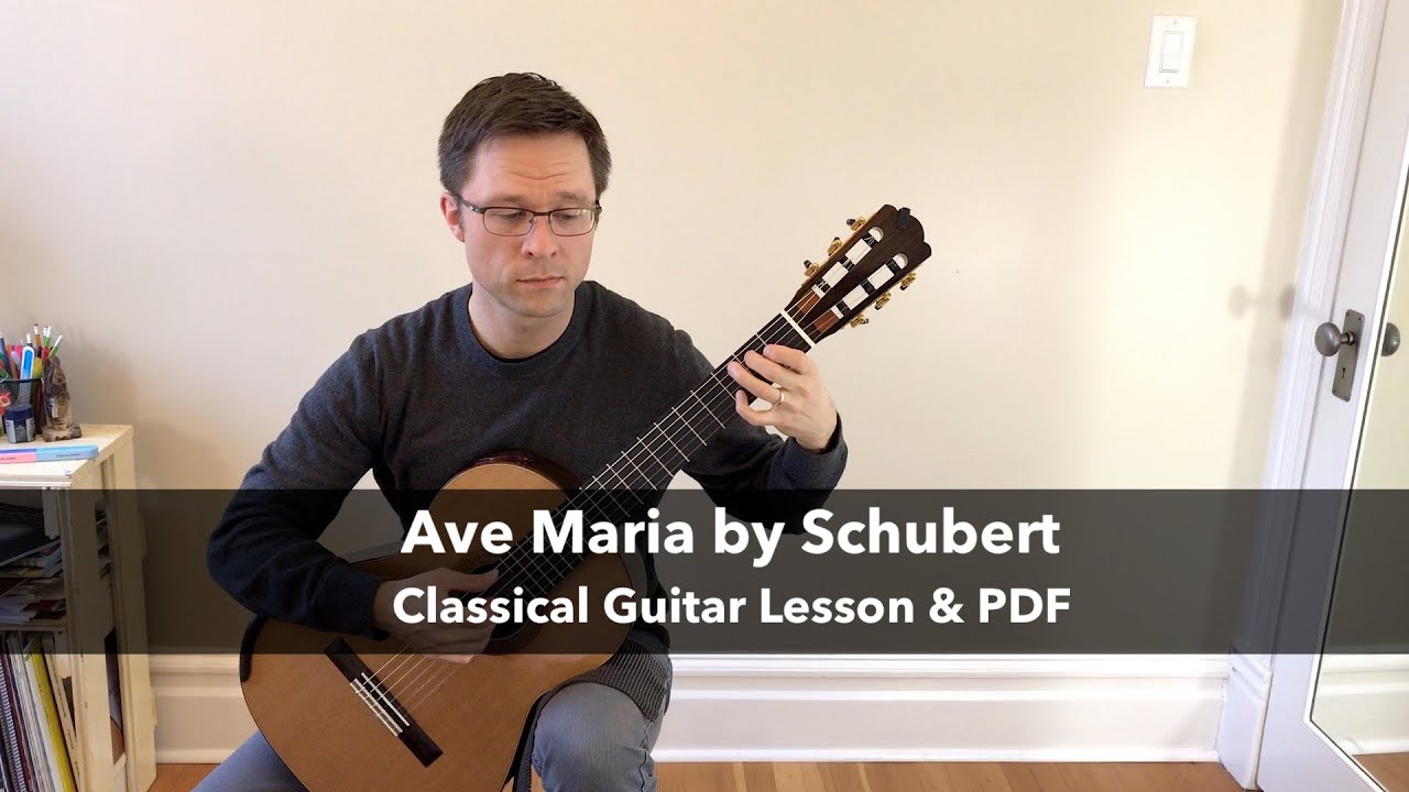 Ave Maria by Schubert for Guitar - PDF Sheet Music or Tab