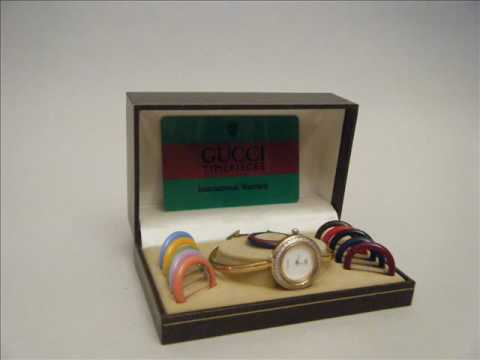 Gucci Watch With Changable Bezels Circa 1987 eBay Listing by Alchemistic