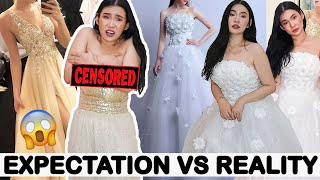 BAT GANITO!? 😩 MURANG WEDDING DRESSES SA LAZADA... | Toni Sia