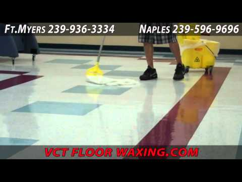 Vct Floor Waxing Naples Youtube