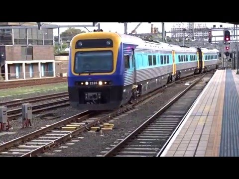 XPT Express Countrylink and Sydney NSW Trains at Central Railway Station Sydney Australia