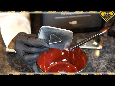 Thumbnail: Liquid Metal Play Button Melts In Your Hand