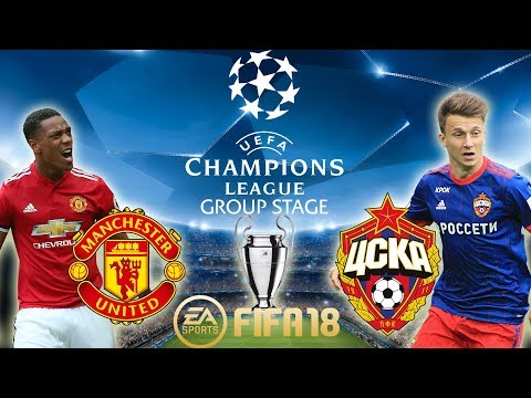 FIFA 18 Manchester United vs CSKA Moscow | Champions League Group Stage 2017/18 | PS4 Full Match