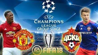 FIFA 18 Manchester United vs CSKA Moscow  Champions League Group Stage 201718  PS4 Full Match