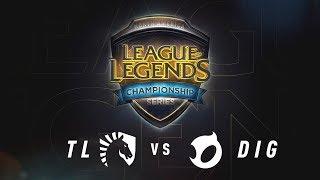 TL vs. DIG - Week 9 Game 3 | NA LCS Summer Split | Team Liquid vs. Team Dignitas (2017)