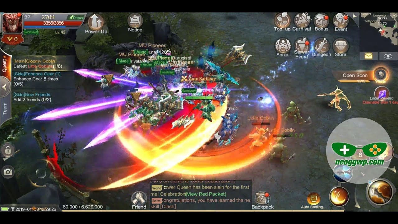 MU ORIGIN 2 (SEA – Full Release) (Android iOS APK) – MMORPG Gameplay, Swordman Lv.1-50  #Smartphone #Android