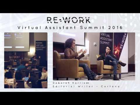 Deborah Harrison, Editorial Writer, Cortana - RE•WORK Virtual Assistant Summit #reworkVA