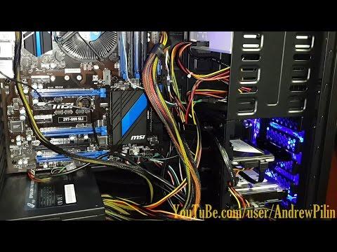 Сборка рабочего компьютера. (без голосовых комментариев)
