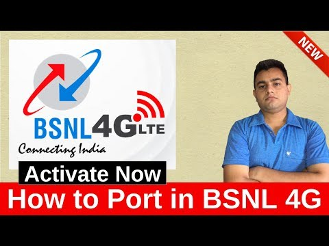 How to Port in BSNL 4G I BSNL 4G FRC Plans Explained I How to activate BSNL 4G in your Phone