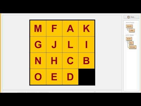 How to Make 15 Tile ABC Puzzle in Greenfoot - YouTube 0f170af9f7