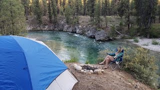 FREE camping on Payętte River Idaho (Hwy 21)