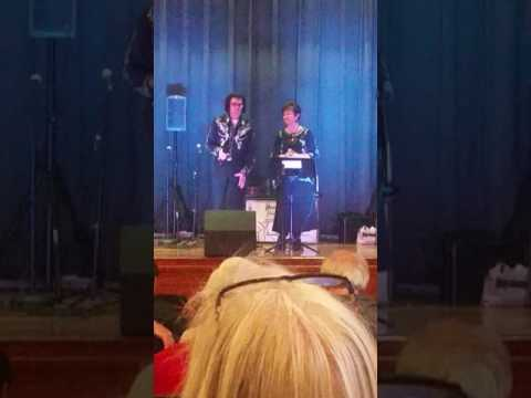 Ernest and Ann Young singing at Mountain Hill School Fundraiser