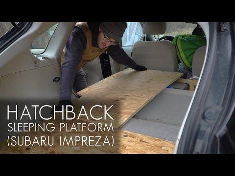 Cheap and Easy Hatchback Sleeping Platform