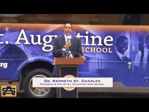 New St. Aug Bus Dedication