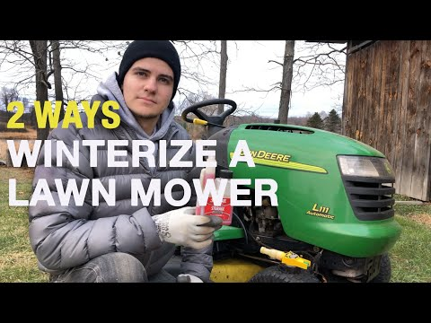 How To Winterize ANY Lawn Mower