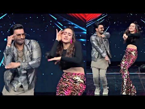 Sara Ali Khan And Ranveer Singh Dancing On Dance Plus 4 Set - Simmba Promotion