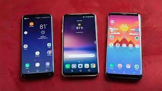 Frente a frente: LG V30 vs. Galaxy S8 vs. S8 Plus