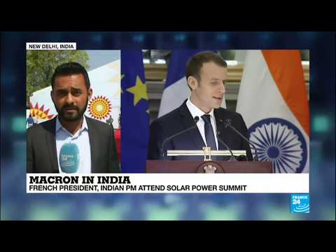 India; France's Macron Pledges €700 Million For Solar Projects In Developing Countries