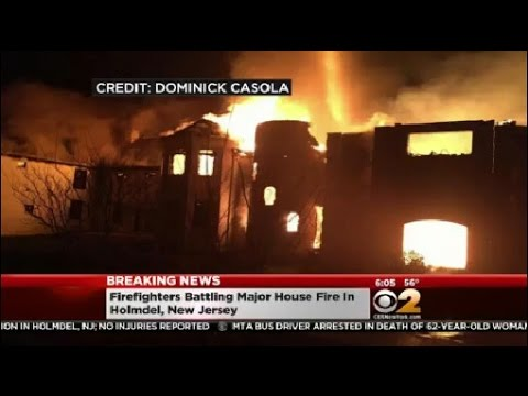 Massive Fire At Holmdel Home
