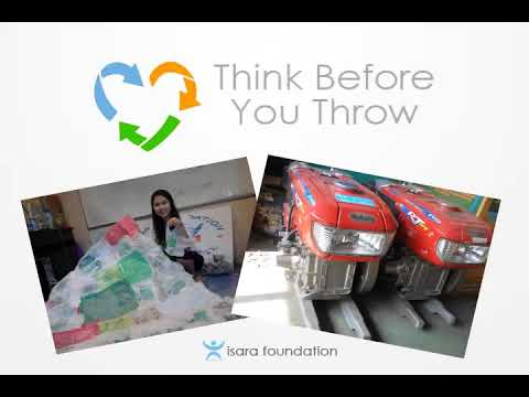 """""""Think Before You Throw"""" - Mekong Plastic Bottle Boat"""