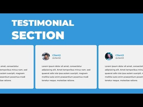 Awesome testimonial section using HTML CSS & owl carousel js