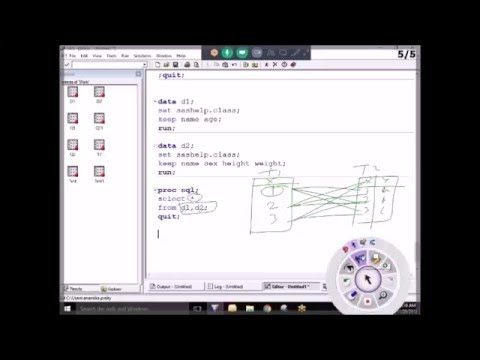 Advance SAS Online Training Demo - Joins in Proc SQL