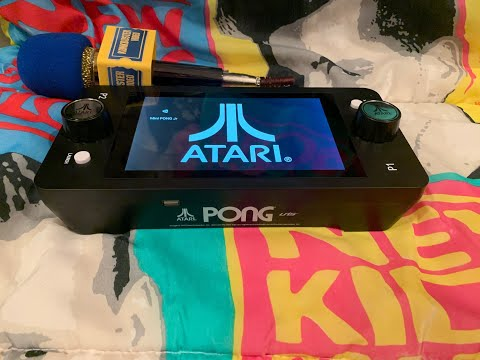 Atari PONG jr. EASTER EGG!  FUNNY    + pro strategies / tips from KING KONK