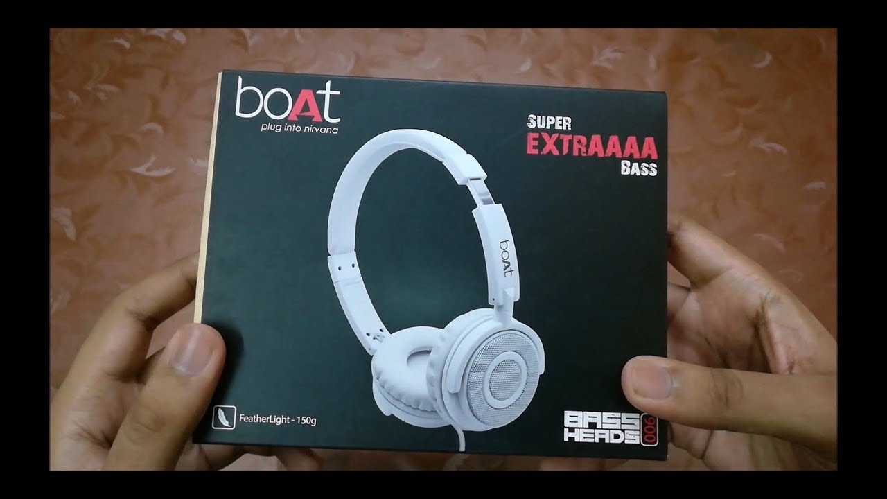 f9d4834283a Boat Bassheads 900 Headphone Unboxing and Review - YouTube
