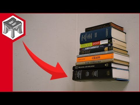 How to Make an Invisible Bookshelf - Floating Book Illusion