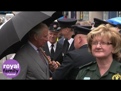 Charles and Camilla meet locals in Omagh, Northern Ireland