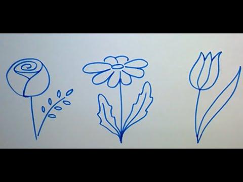 Как легко нарисовать потрясающе красивые цветы?