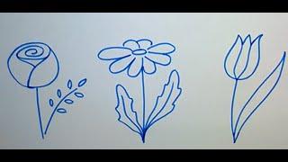Учимся рисовать цветы(Учимся рисовать цветы., 2015-03-26T11:17:24.000Z)