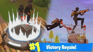 SHOPPING CART - LAUNCH PAD - JET PACK 'OMG'!? - Fortnite Bataille Royale