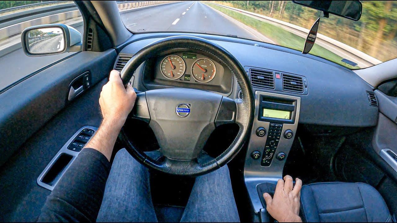 2005 Volvo V50 [2.0 TD 136HP]  0-100  POV Test Drive #850 Joe Black