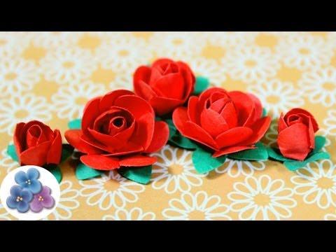 Como hacer flores de papel rosas de papel diy paper - Manualidades como hacer ...