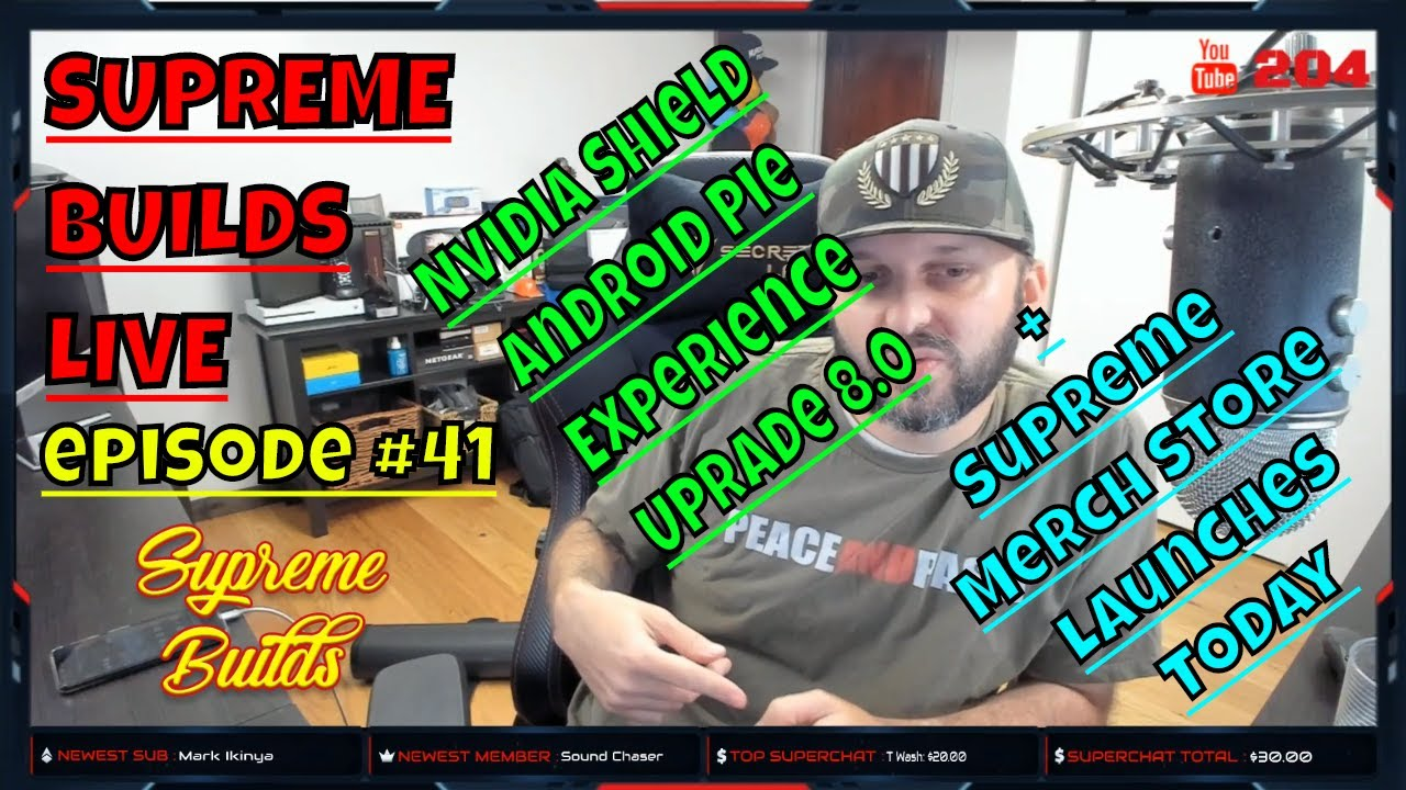 Supreme Builds Live #41 : NVIDIA SHIELD Experience Upgrade 8 0 - What's  New? + SB Merch Store Launch