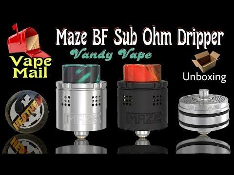Vape Mail Unboxing Maze Bf Sub Ohm Rda From Vandy Vape Youtube