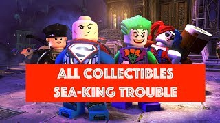 Lego DC Super Villains Sea-King Trouble Free Play 100% all Minikits and Collectibles
