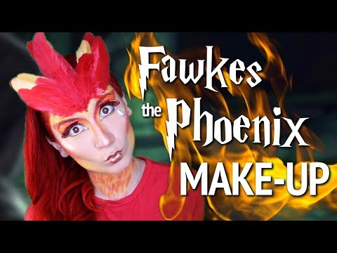 Fawkes the Phoenix Make-Up | Harry Potter