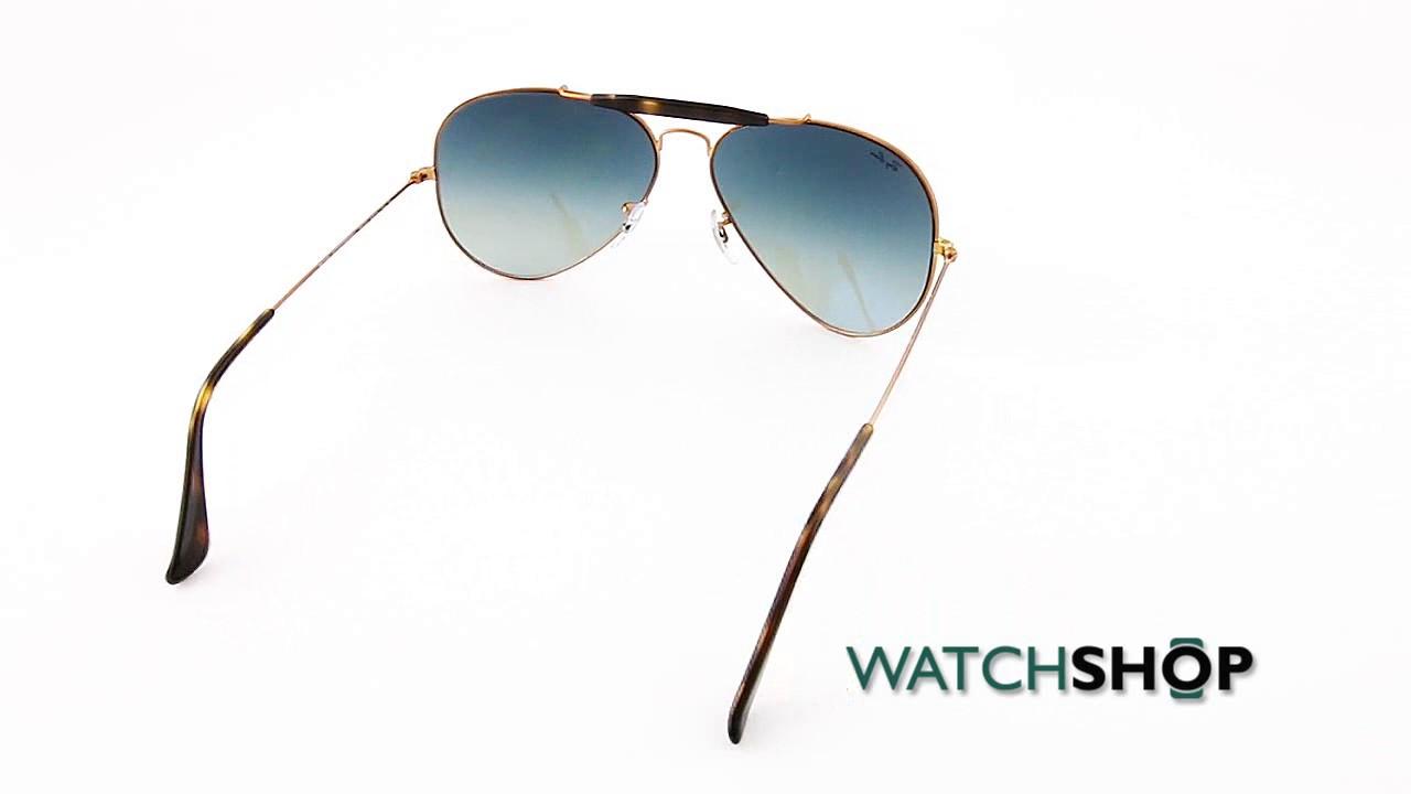 5e10f47a357 Ray-Ban Men s Outdoorsman II Sunglasses (RB3029-197 71-62) - YouTube