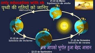 Chapter -02 World Geography ( Prithvi ki Gatiya..... )  All Govt. Exame