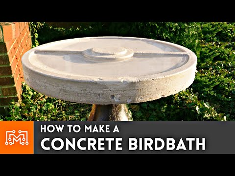 How To Make A Concrete Birdbath // Pokemon | I Like To Make Stuff