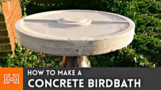 How to Make A Concrete Birdbath // Pokemon