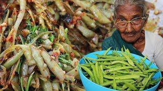 CLUSTER BEANS FRY RECIPE |GORU CHIKKUDU FRY BY GRANNY