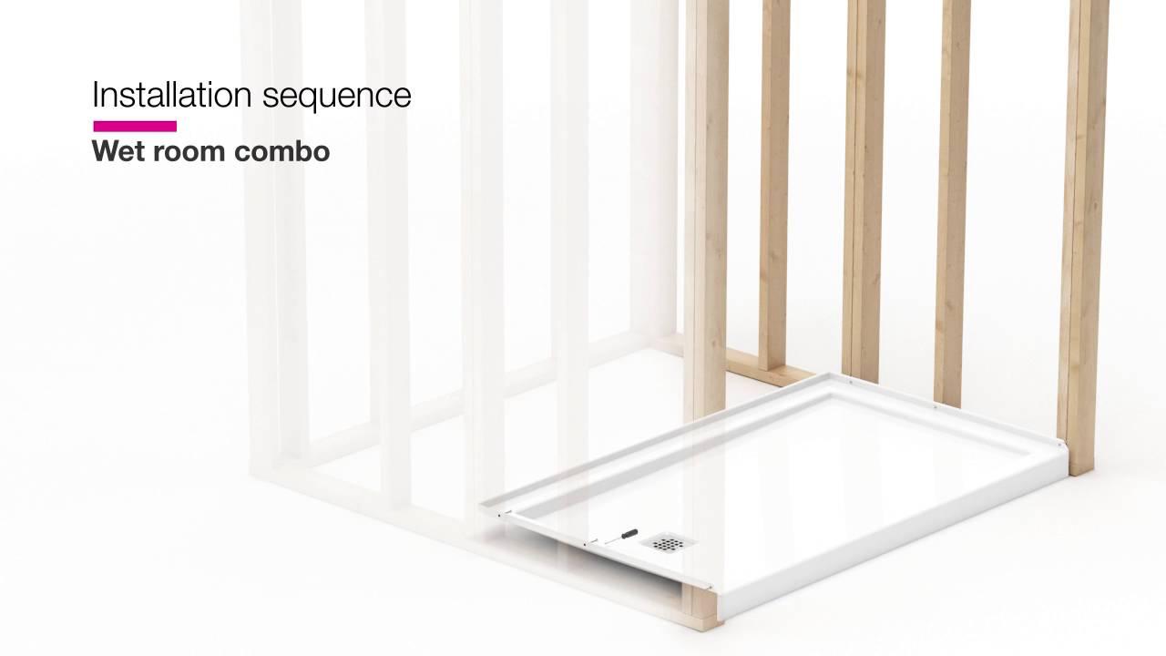MAAX ModulR — Wet room combo shower and bathtub installation - YouTube