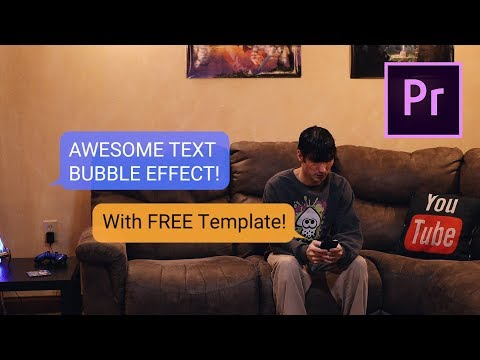 Text Message Effect | FREE ADOBE PREMIERE TEMPLATE