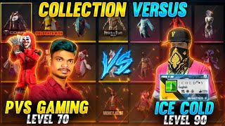 😱ICE-COLD FF vs PVS GAMING🤣!! Collection  With Global Top 1 Highest Level Player Of India Tricks